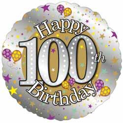Balloons 100th Birthday Balloon 995
