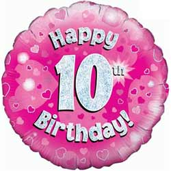 10th Birthday Girl Balloon