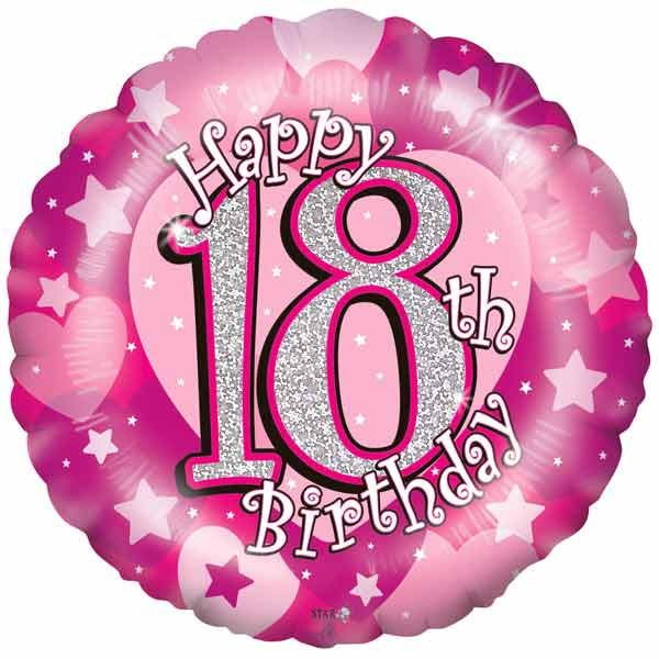 18th Birthday Pink Balloon Small Image