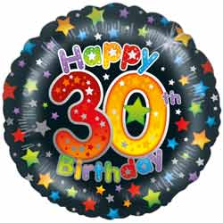 Helium Foil Birthday Balloons 30 100 Year Birthdays 995 FREE Delivery