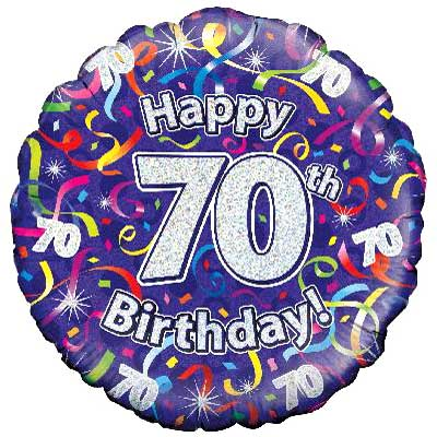 Balloons 70th Birthday Balloon
