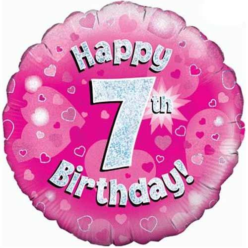 7th Birthday Girl Balloon