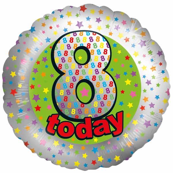 Balloons 8 Today Birthday Balloon GBP995