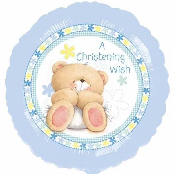 Balloons Baby Boy Christening Wish Balloon
