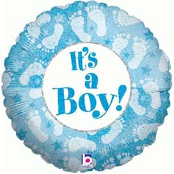 Baby Boy Footprints Balloon