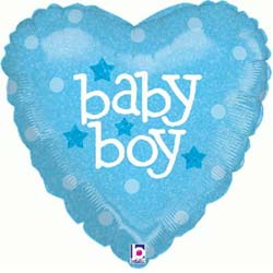 Baby Boy Heart Balloon