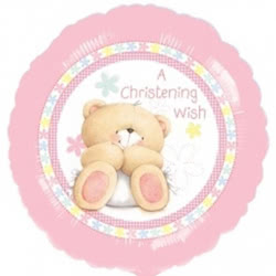 Baby Girl Christening Wish Balloon