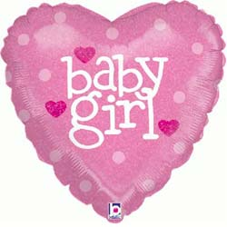 Baby Girl Heart Balloon