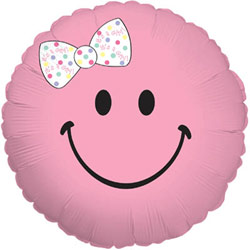 Baby Girl Smiley Balloon