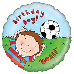 Birthday Boy Footballer Foil Balloon