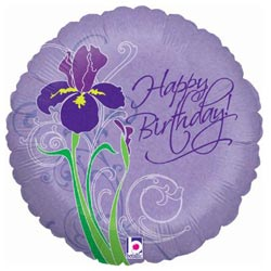 Birthday Iris Foil Balloon