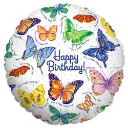 Butterfly Birthday Foil Balloon