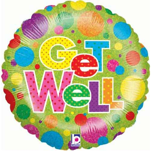 Balloons Dotty Get Well Balloon
