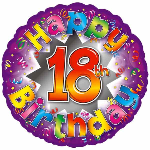 Balloons Happy 18th Birthday Balloon