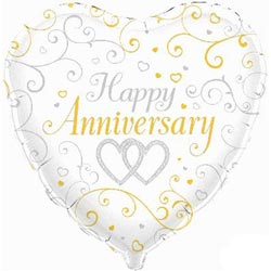 balloons happy anniversary hearts balloon 9 95