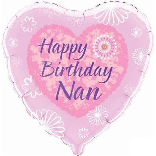 Balloons Happy Birthday Nan Foil Balloon