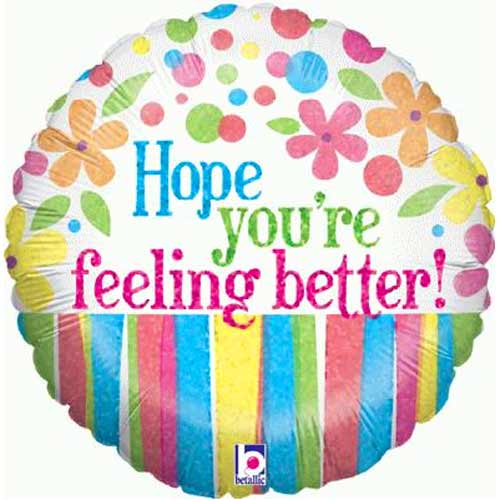 BalloonsHope You Are Feeling Better