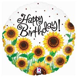 Sunflower Birthday Foil Balloon