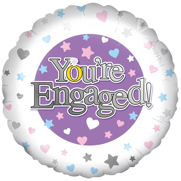 Balloons You*re Engaged Foil Balloon