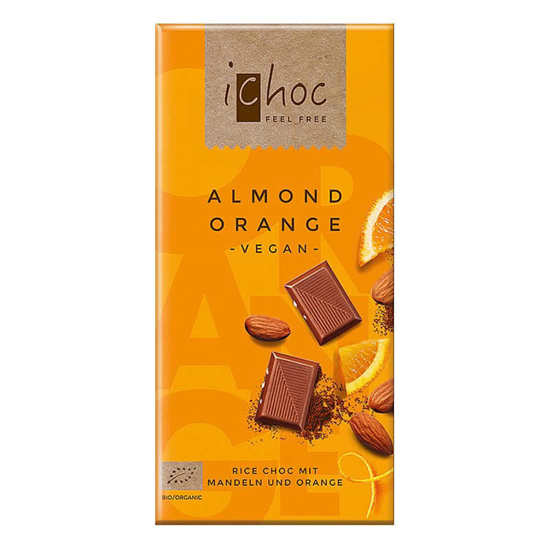 Vivani Vegan Almond Orange Choc Bar