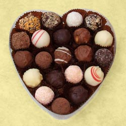 Large Cellophane Heart Shaped Truffles Box