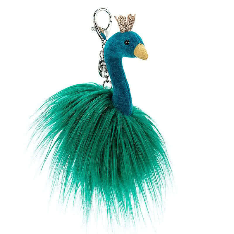 By JellycatFancy Peacock Bag Charm