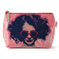 Girl in Glasses Make-Up Bag
