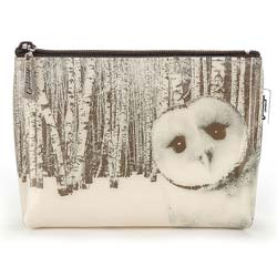 Owl in Woods Make-Up Bag
