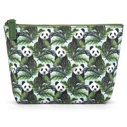 Panda in Palms Make-Up Bag