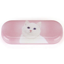 Cat with Pearl Necklace Glasses Case