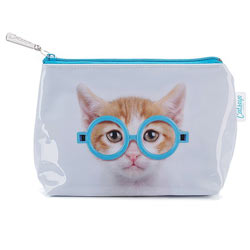 Glasses Cat Make-Up Bag
