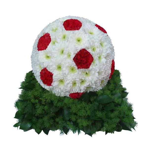 Funeral Flowers 3D Football Funeral Tribute