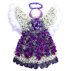 Angel Funeral Flower Tribute