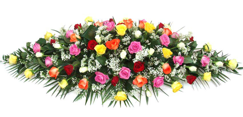Funeral Flowers Funeral Coffin Spray - Mixed Roses