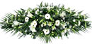 Funeral Coffin Spray - Pure White Small Image
