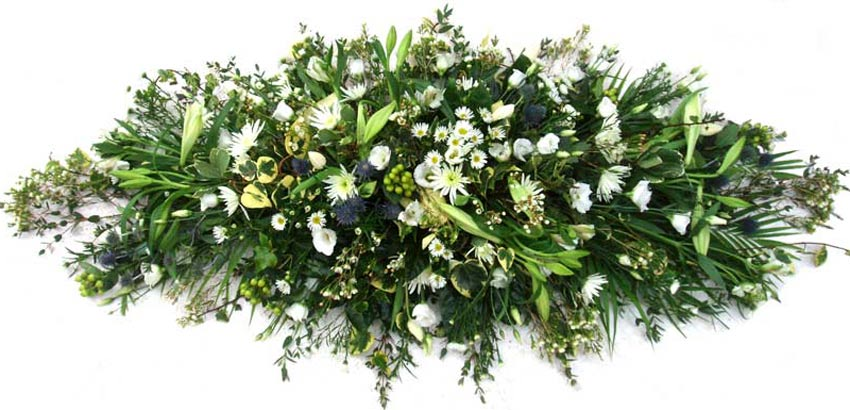 Funeral Flowers Rustic Funeral Coffin Spray