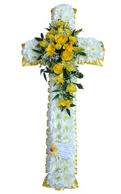 Funeral Crosses With Funeral Cross White Amp Yellow From