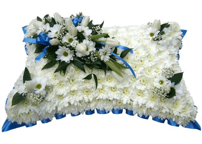 Funeral Flowers Funeral Pillow Royal Blue