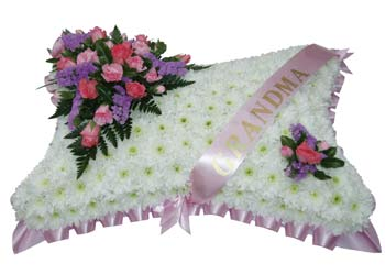Funeral Pillow with Sash