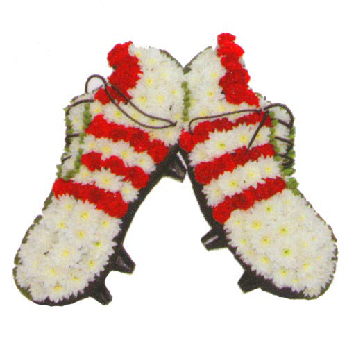 Funeral Flowers Football Boots Funeral Tribute