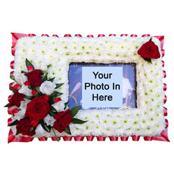 Photo Frame Funeral Flower Tribute