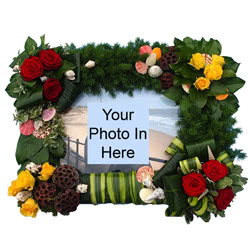 Picture Frame Funeral Flower Tribute