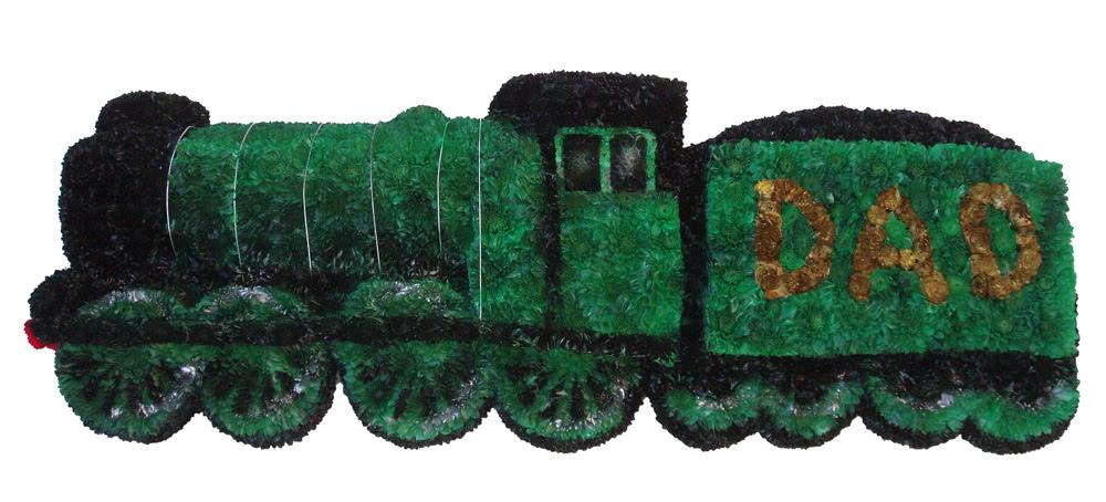 Diesel Steam Train Funeral Flower Tributes