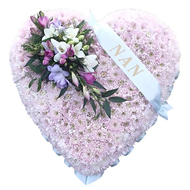 Funeral Flowers Funeral Heart Wreath Pink
