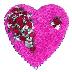 Funeral Heart Cerise Pink