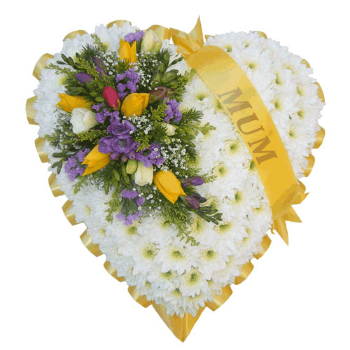 Funeral Flowers Funeral Heart Tribute - Pastels