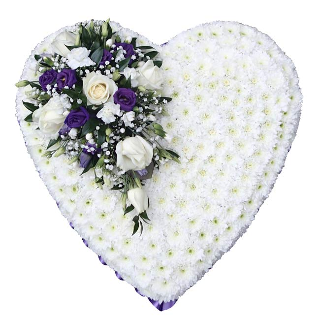 Funeral Flowers Funeral Heart Tribute Purple