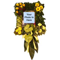 Picture Frame Funeral Flower Design