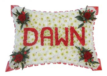 Funeral Pillow with Name