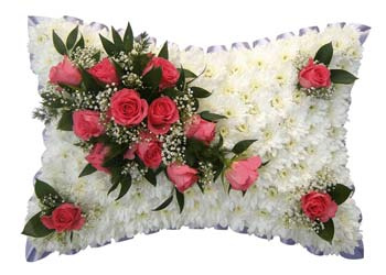Funeral Pillow Pink Placements